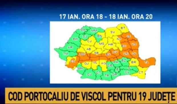 Vreme extremă în România. Meteorologii au emis COD PORTOCALIU de ninsori. Zonele afectate!