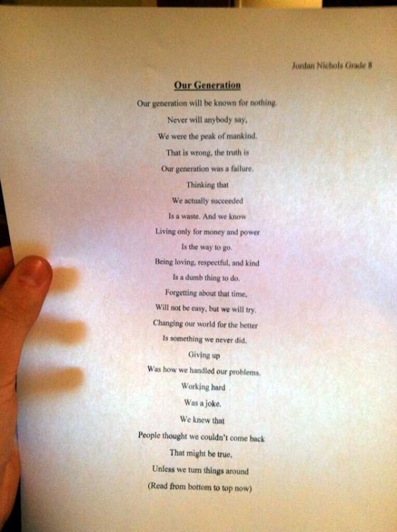 Lumea Prin Ochi De Copil La Disperare Speran 14 Ani A Scris O Poezie Incredibil