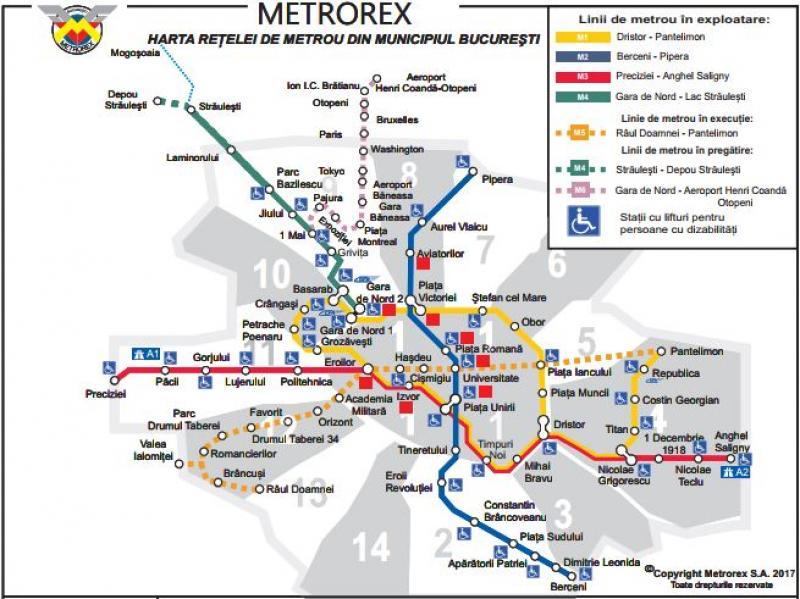 harta metrou Hartă metrou 1953 vs. hartă metrou 2018. Cum ar fi trebuit să  harta metrou