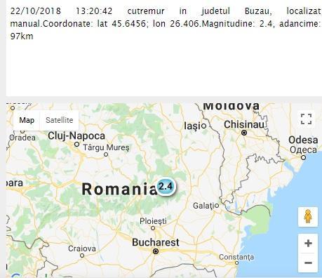 Cutremur în România, în urmă cu puțin timp! Ce magnitudine a avut!