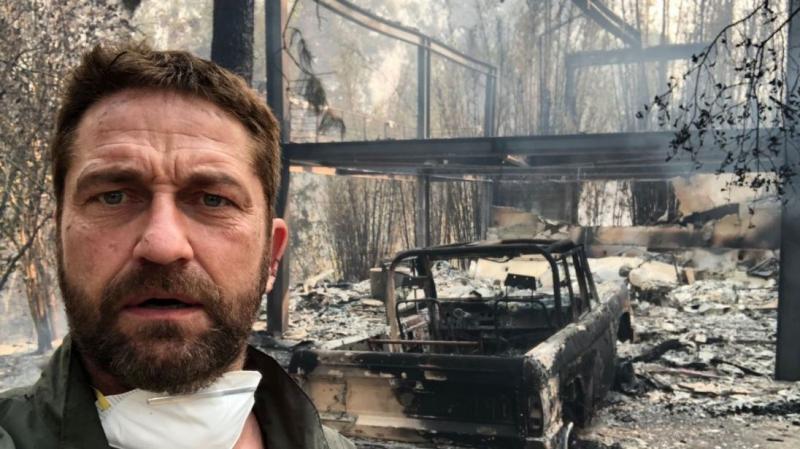 """Actorul Gerard Butler a publicat imagini șocante cu locuința sa din California, distrusă în urma incendiilor devastatoare: """"Sunt vremuri dureroase"""""""
