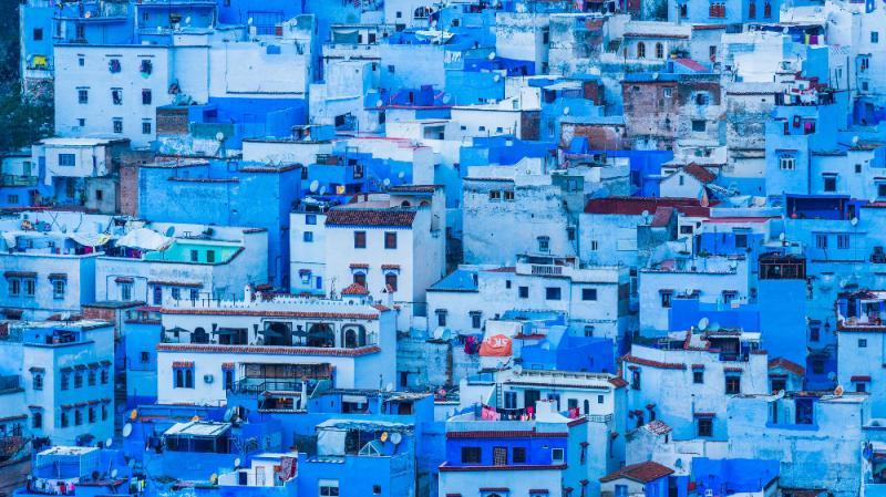 """Absolut divin! """"Orașul albastru"""", locul din care nu vrei să mai pleci. Imaginile locului te vor conduce într-o altă lume"""