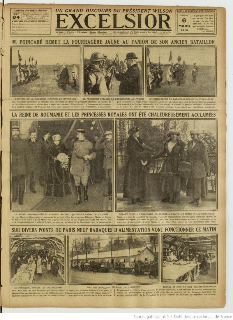 Sosirea regina Maria, în presa franceză a vremii. Sursa foto:gallica.bnf.fr