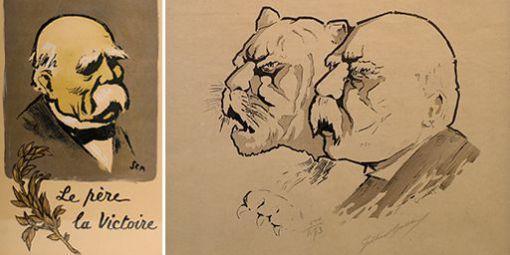 Georges Clemenceau - Trigrul, ilustrat în presa franceză