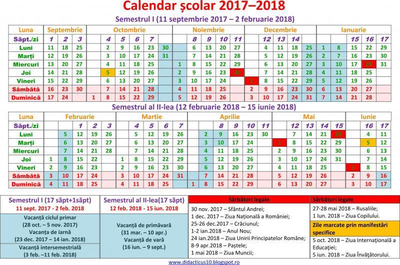 Imagini pentru structura an scolar 2018-2019