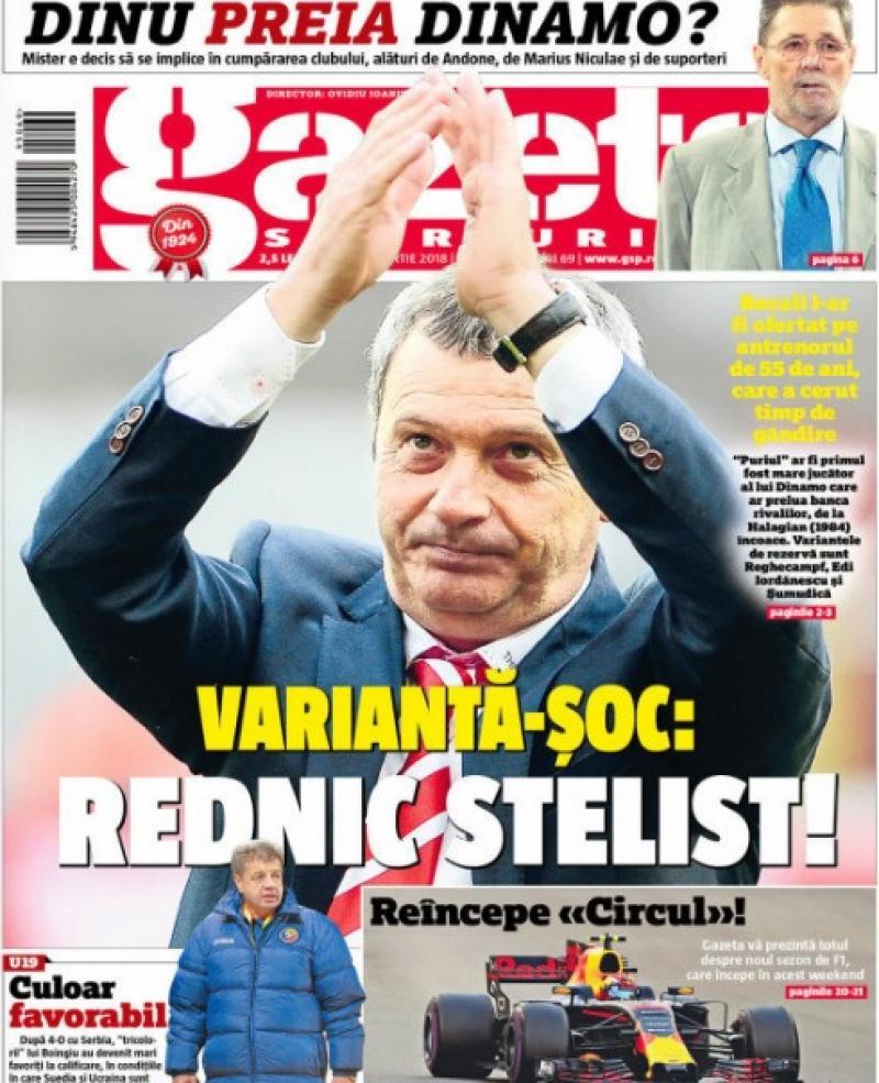 Revista presei sportive, 23.03.2018: trădarea anului în România - o legendă de la Dinamo vine la FCSB; amicale de lux în Europa: Germania-Spania, șocul zilei