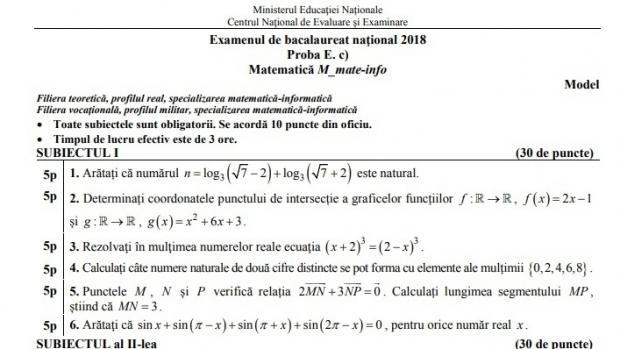 Subiecte Simulare Clasa A 7a Romana 2019 News