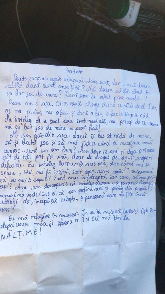 """""""Nu am postat niciodată așa ceva"""". Carla's Dreams, scrisoare emoționantă din partea unei fetițe: """"Poate sunt doar un copil obișunit, dar mă doare..."""""""