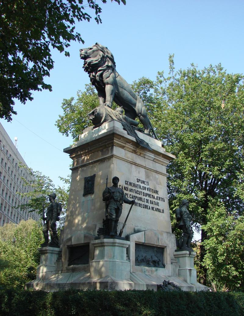 Povestea statuii Geniului. Un Leu de 6.000 de kilograme. Ceaușescu i-a șters inscripția, Păunescu i-a pus-o la loc!