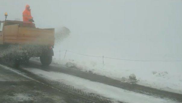 Zona din România în care e iarnă! UTILAJELE de DESZĂPEZIRE au intervenit cu TONE de sare