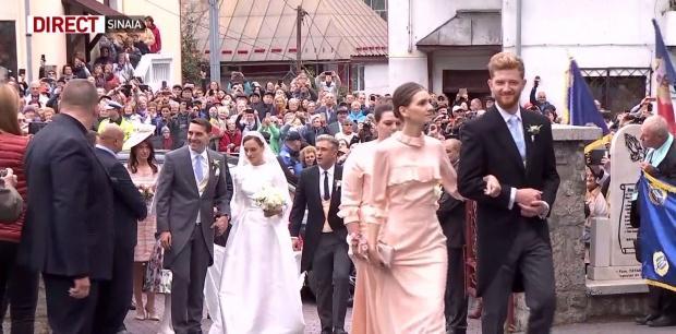 Nunta regală Sinaia! Primele imagini cu fostul principe Nicolae și Alina-Maria Binder! Cum arată rochia de mireasă a tinerei