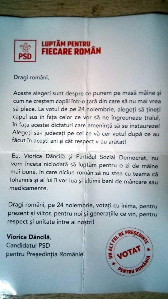 """La ce trucuri apelează PSD pentru voturi.  Viorica Dăncilă, scrisoare revoltătoare:""""Iohannis vă va lua și ultimii bani de mâncare și medicamente!"""""""