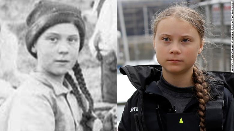 Tânăra activistă, Greta Thunberg, este călător în timp? Adolescenta seamănă izbitor cu un personaj dintr-o fotografie veche de 120 de ani - FOTO