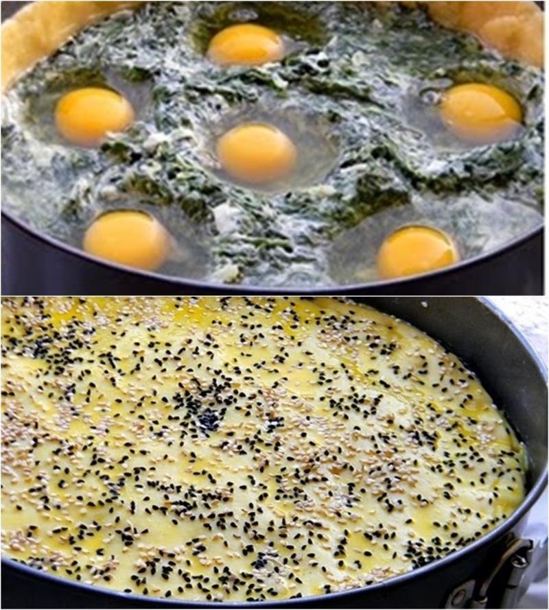 Rețetă de tartă cu spanac și ouă, perfectă pentru mic dejun, cină, sau pachetul de peste zi.