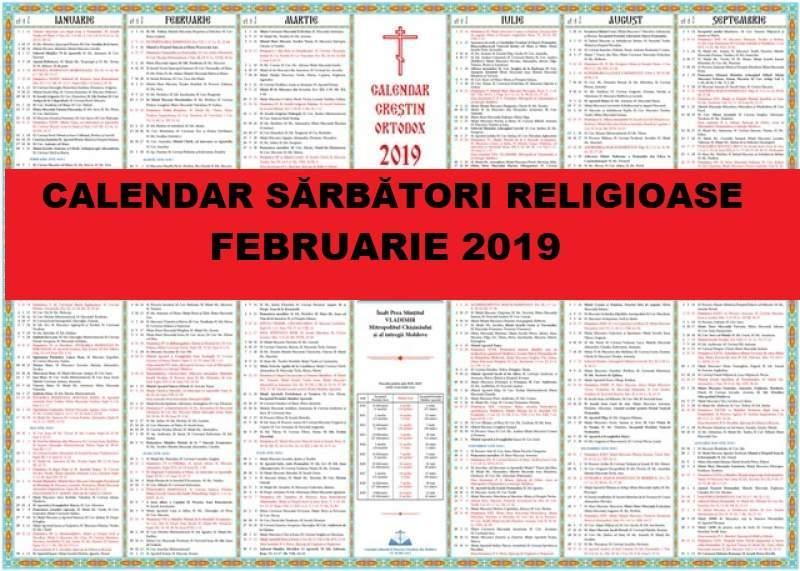 Calendar Crestin Ortodox.Calendar Ortodox Februarie 2019 Marile Sărbători Din Luna Lui Făurar