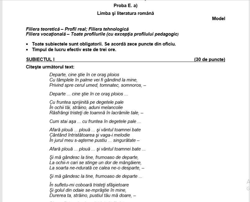 Subiecte Simulare Clasa A 7a Romana 2019 News: Subiecte Simulare Bac 2019 Limba Română. Avem Subiectele