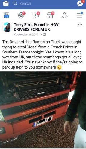 S-au făcut de râs! Doi șoferi români furau combustibil când au fost prinși și legați de propriul TIR, în Franța! (FOTO)
