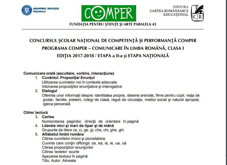 Subiecte Simulare Clasa A 7a Romana 2019 News: Comper 2019, Comper 2019, Etapa A II-a, Modele De Subiecte
