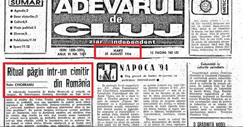"""Ungurii au smuls, ars și îngropat crucile eroilor români! """"Un ritual păgân, consumat noaptea!"""""""