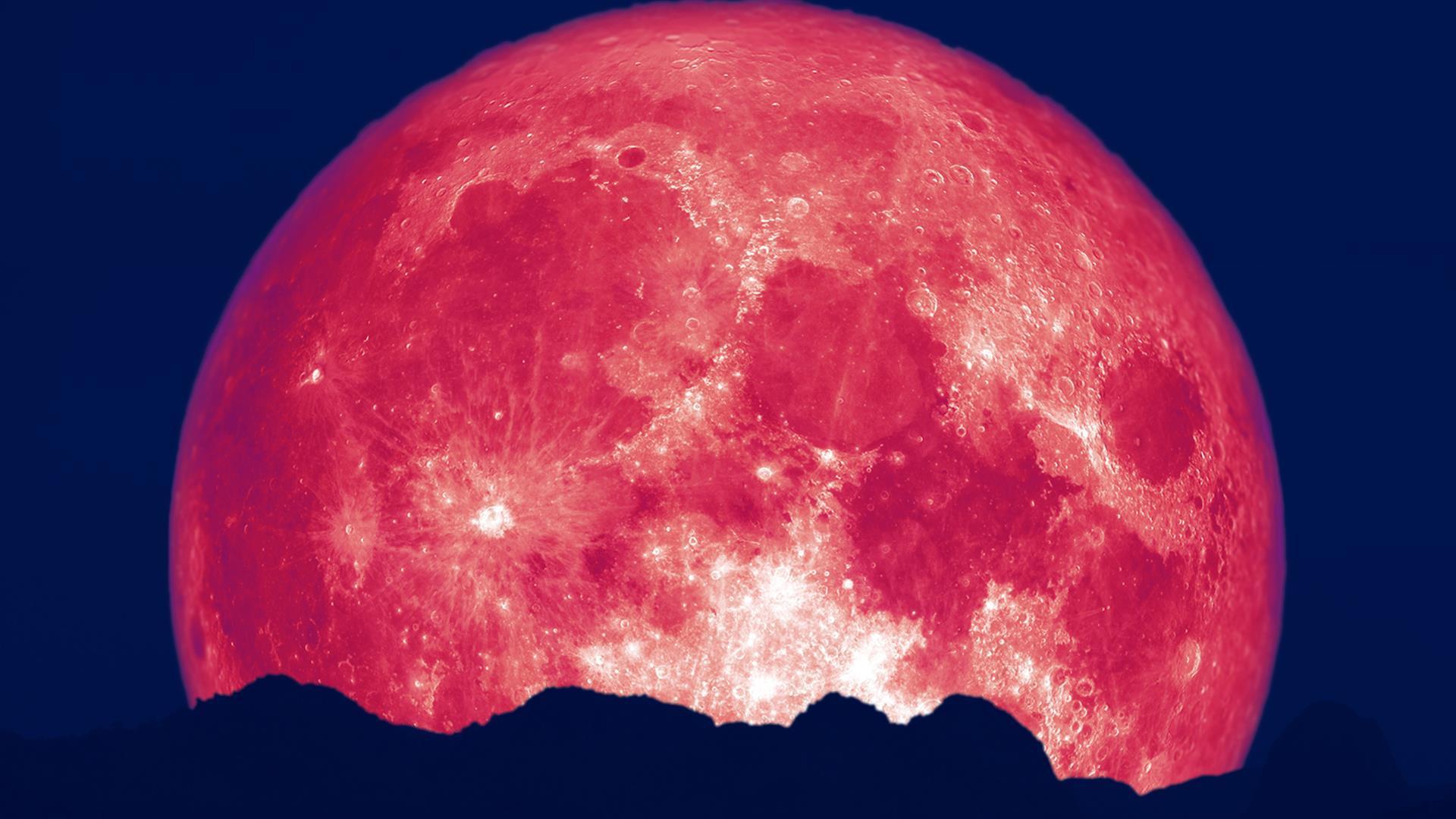 клубничная луна фото