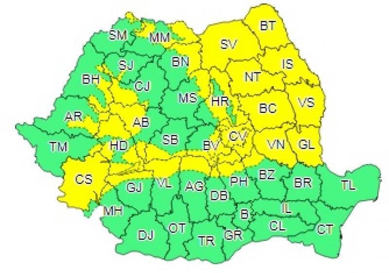 Cod Galben De Ninsori In Romania Mare Parte Din țară Va Fi