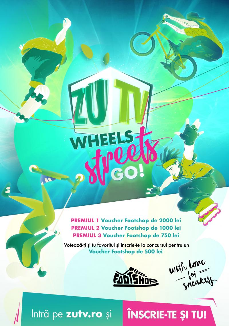 """Câștigă premii de senzație! ZU TV a lansat campania """"Wheels! Streets! Go!"""""""