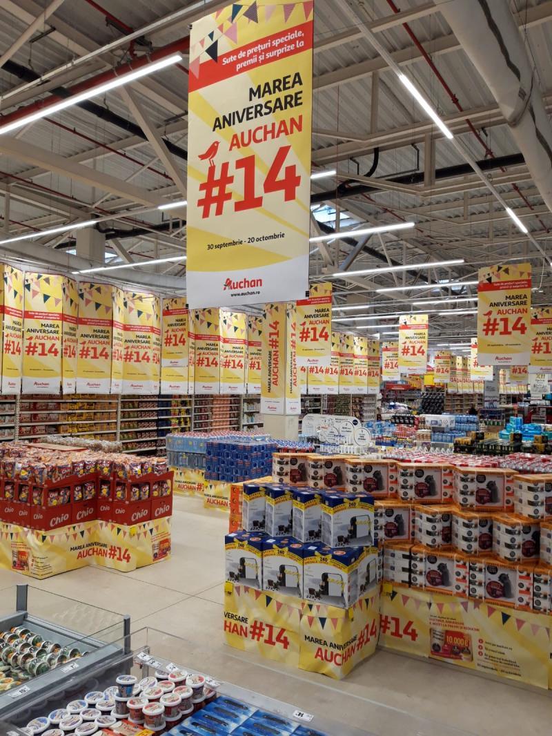 (P) Sărbătorim împreună Marea Aniversare Auchan #14! Până pe 20 octombrie ai acces la mii de premii și surprize