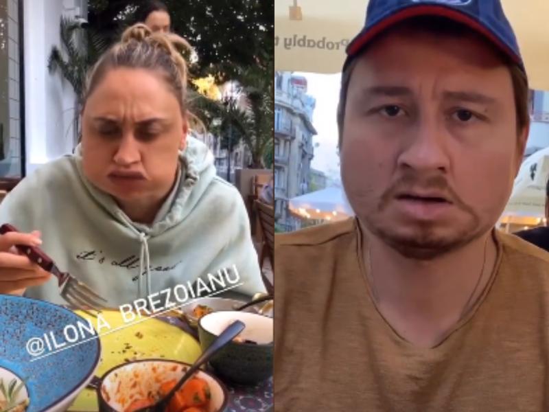 Colaj cu actorii Dan Rădulescu și Ilona Brezoianu, în timp ce au filtre de îngrășare a feței