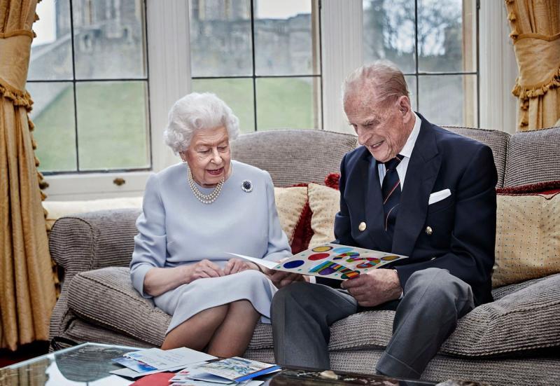 Regina Elisabeta și Printul Philip, la aniversarea relatiei lor