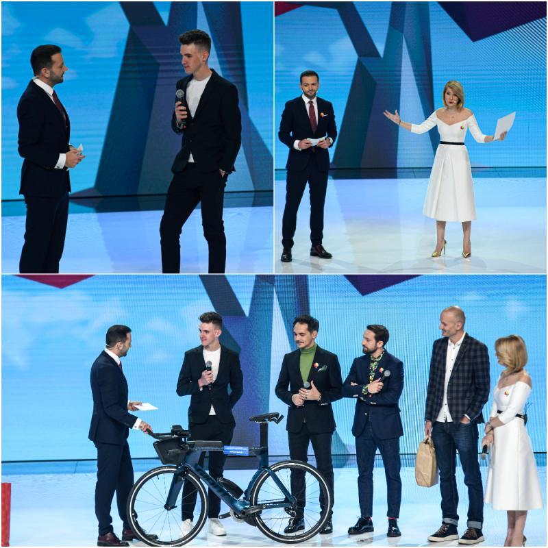 Mihnea Harasim, campion la ciclism, este mai aproape de visul său pe două roti, datorită galei Ajut eu!