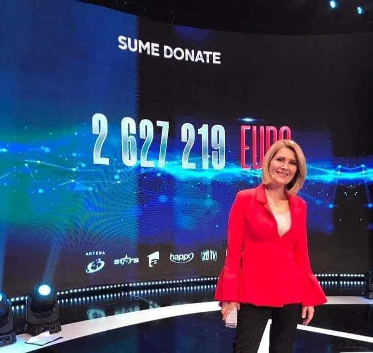 Teledonul Români Împreună, difuzat simultan pe 5 canale tv, urmãrit de peste 6.6 milioane de telespectatori