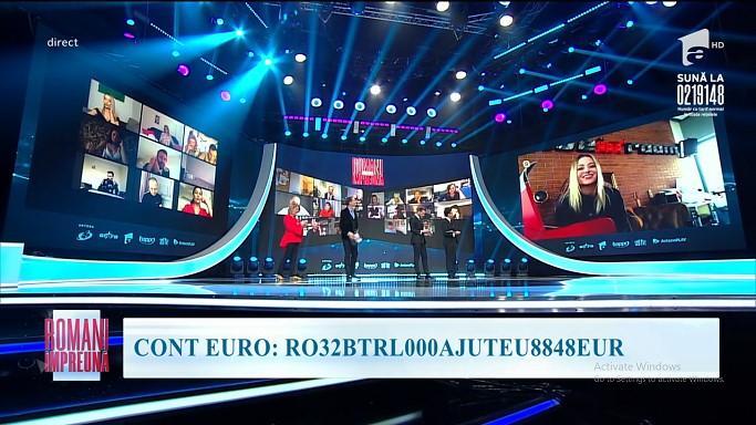 Delia, Ștefan Bănică și Loredana au donat peste 37.000 de euro,  la teledonul Români Împreună, organizat de trustul Intact