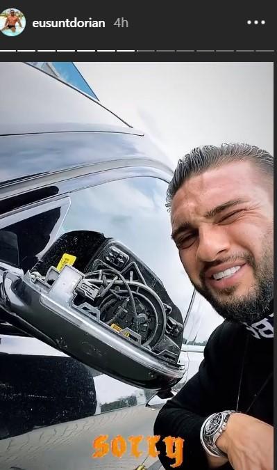 """Dorian Popa, implicat într-un accident rutier: """"Nu știu ce au văzut ochii mei. Era punctul mort!"""" În ce stare se află artistul"""
