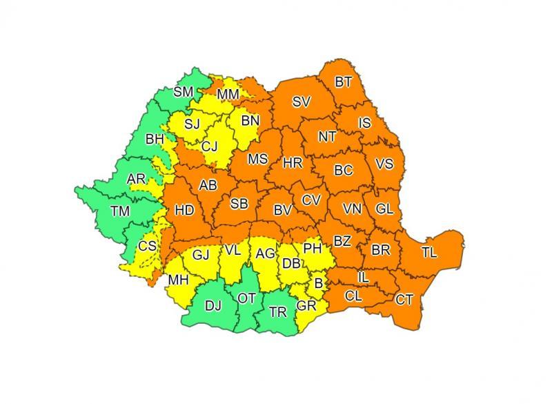 Alertă meteo! Cod portocaliu de ploi și vijelii, în România! Unde se vor rupe norii, în următoarele ore