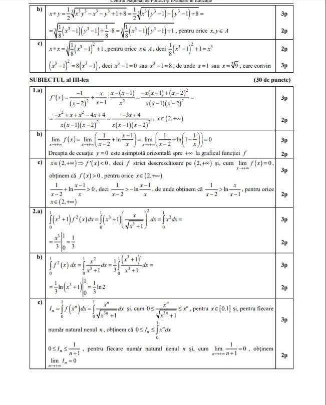 Barem Bacalaureat 2020 Matematică. Rezolvările au fost publicate! Cum se rezolvă subiectele, pentru nota 10!