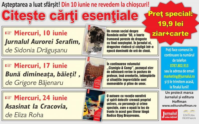 Așteptarea a luat sfârșit! Din 10 iunie, Jurnalul cărților esenţiale revine la chioșcuri!