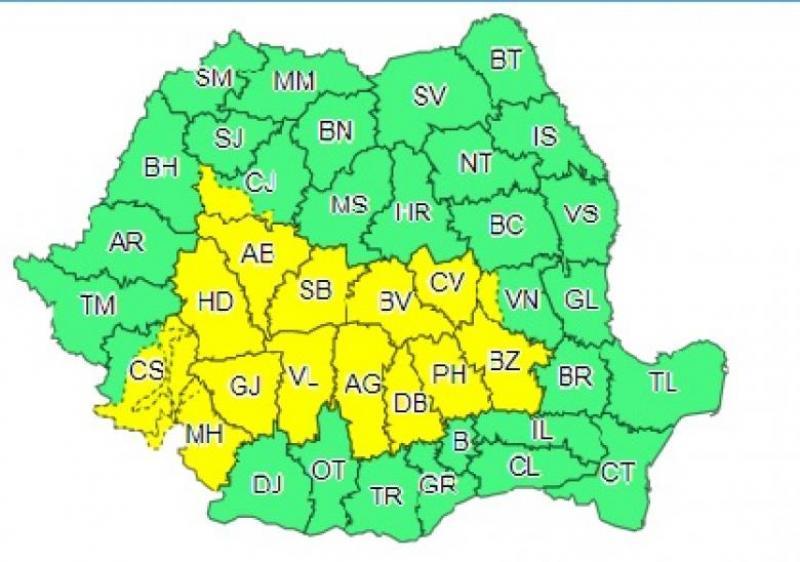 Alertă meteo! Cod galben de ploi torențiale și furtuni, în România! Zonele afectate, în următoarele ore