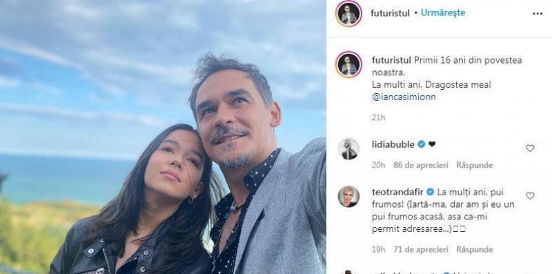 Fiica lui Răzvan Simion a împlinit 16 ani. Mesajul Lidiei Buble pentru Ianca, postat la poza cu cei doi de pe Instagram