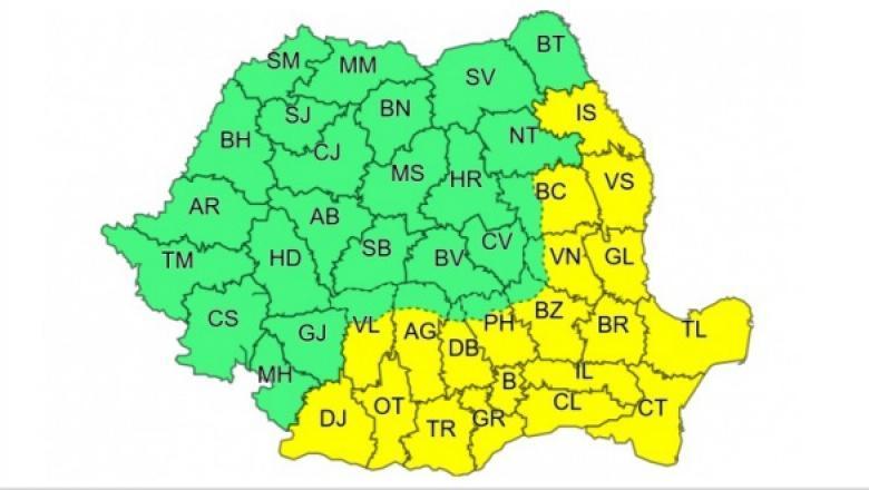 Alertă meteo! Cod galben de caniculă, în România! Care sunt cele 20 de județe afectate. Unde urmează nopți tropicale