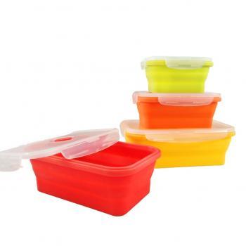 Set 4 recipiente silicon pentru alimente