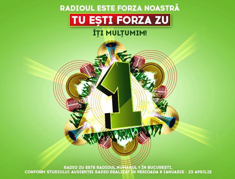 Forza ta ne ține sus. Radio ZU este din nou nr. 1 în audiențe!