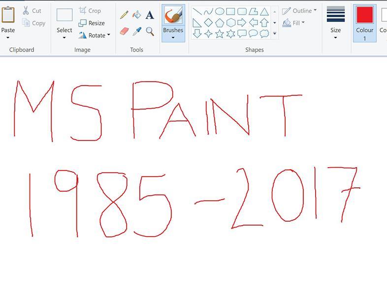 Microsoft renunță la Paint, după 32 de ani