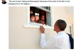 Barrack Obama a postat cel mai popular mesaj din istoria Twitter