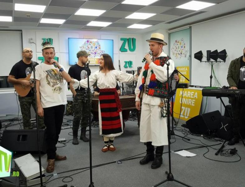 """Marea Unire ZU 2017: Taraful Rutenilor și Gavrilă au cântat """"Vorbe bune"""""""