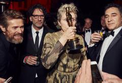 VIDEO: Oscarul lui Frances McDormand a fost furat imediat după ceremonie