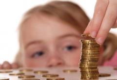 Bani mai mulți pentru copii