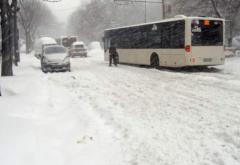 Trafic dat peste cap din cauza zăpezii