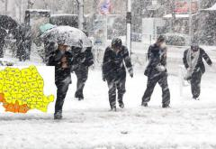 Cod galben de ninsori, ploi si vânt în jumătate din țară