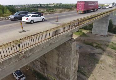 Podul de peste râul Argeș, de pe DN 5, București – Giurgiu, a intrat în reparații