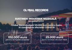 Global Records alocă 125.000 de euro pentru lupta în combaterea efectelor pandemiei COVID-19